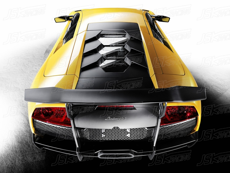Sv Style Carbon Fiber Rear Spoiler For 2004 2010 Lamborghini