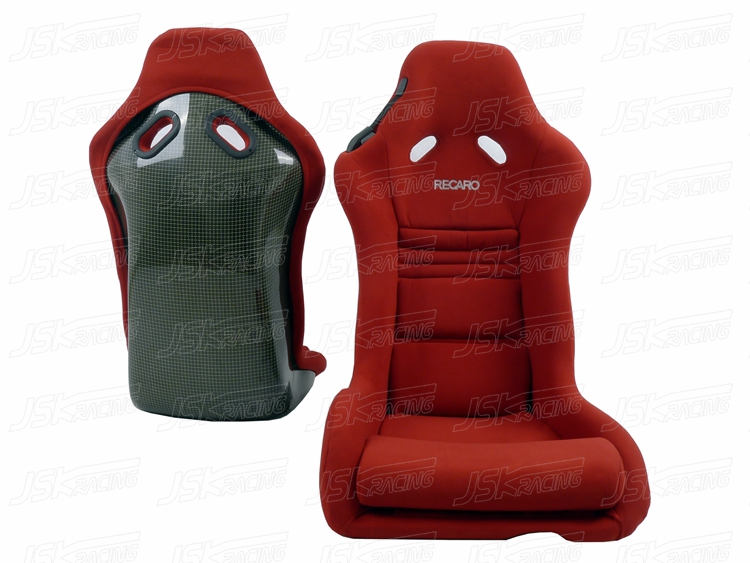 Recaro M1 Style Kelvar Full Carbon Fiber Bottom Velvet Racing Seat Red Jskracing Auto Accessories Int L Lnc Specializes In Developing And Manufacturing Carbon Fiber Auto Parts Located In Guangzhou Guangdong Province China Tel Fax 86 20 85170286